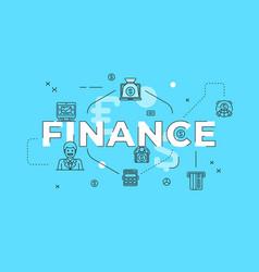 Finance text concept modern flat style vector