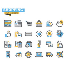 flat line icon pack for designers and developers vector image
