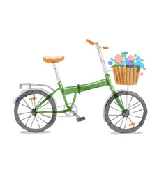 Folding bicycle vector