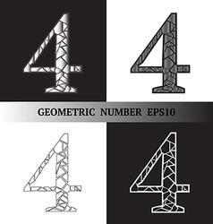 Four Geometric vector image
