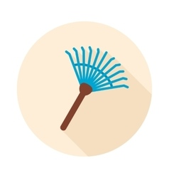 Garden rake flat icon vector