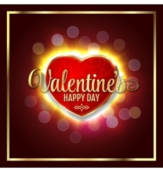 Great heart with sign Valentines happy day vector