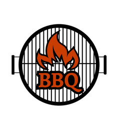 grill logo vector image