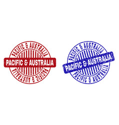 grunge pacific australia scratched round vector image