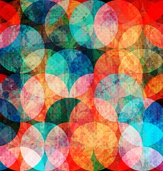 Grunge watercolor circle seamless pattern vector