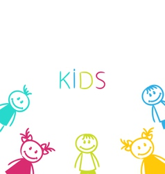 Hand-drawn Cute Funny Kids vector image