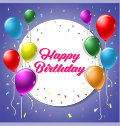 happy birthday greeting card background with vector image