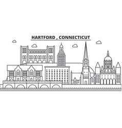 Hartford connecticut architecture line skyline vector
