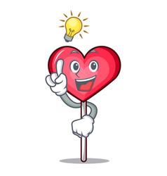 Have an idea heart lollipop mascot cartoon vector