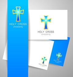 Holy cross logo vector