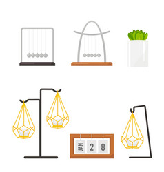 Interior decoration graphic object set pendulum vector