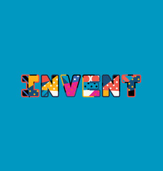 invent concept word art vector image