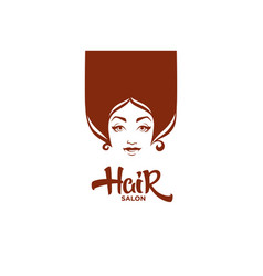 lady portrait for your hair and beauty salon vector image