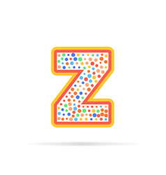 letter z with dots logo design isolated on white vector image