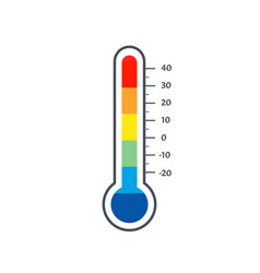 Mercury thermometer logo colorful temperature vector
