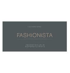 minimal fashion font creative modern alphabet vector image