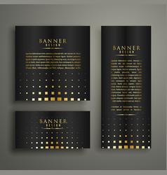 Modern golden halftone style banner design vector