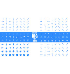 modern simple arrows arrow icon set in vector image