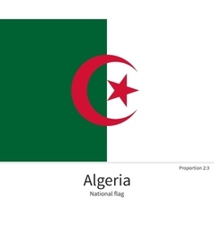 National flag algeria with correct proportions vector
