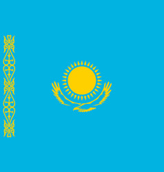 national flag of kazakhstan republic vector image