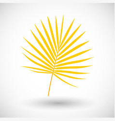 Palm branch flat icon vector