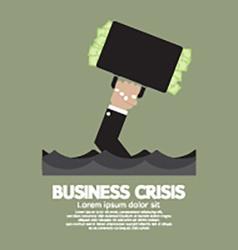 Plentiful Money Briefcase Of A Sank Businessman vector image