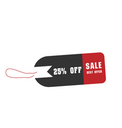 price tag sale best offer 25 off image vector image