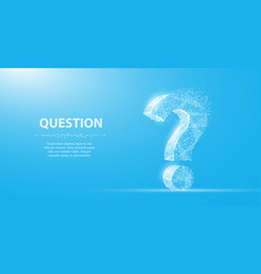 Question mark 3d abstract isolated on blue vector