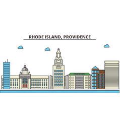 Rhode island providencecity skyline architecture vector