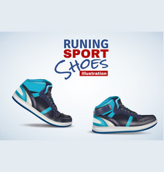 Running sport shoes vector