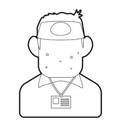 Salesman icon outline style vector