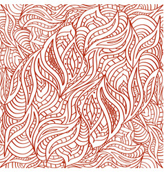 seamless doodling pattern in ethnic oriental vector image