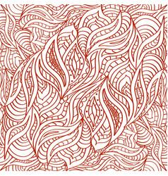 Seamless doodling pattern in ethnic oriental vector