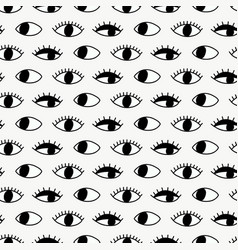 seamless pattern with hand evil eye vector image