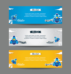 set of web banner templates vector image