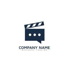 speech video logo icon design vector image