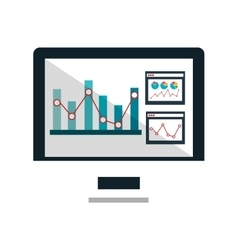Statistics and graphics information icon vector image