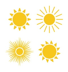 Sun icons set Collection vector