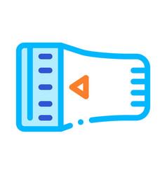 temperature regulator radiator detail icon vector image