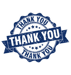 thank you stamp sign seal vector image