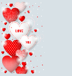 This is valentine s day background with hearts vector