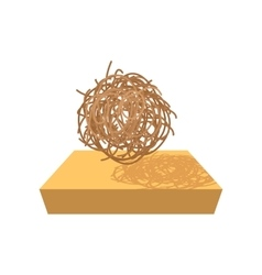 Tumbleweed cartoon icon vector