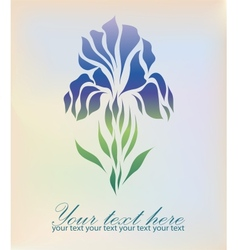 Vintage hand drawing iris vector