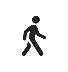 walking man icon people walk sign vector image