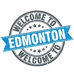 Welcome to Edmonton blue round vintage stamp vector