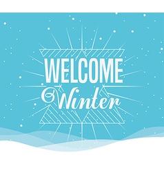 Welcome winter design vector