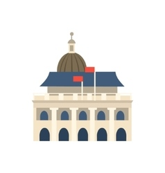 White Building In Hong Kong With Dome Simplified vector