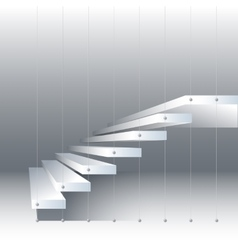 With black and white stairs vector