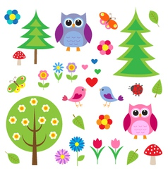 Birdstress and owls vector image