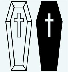 Black coffin vector image vector image